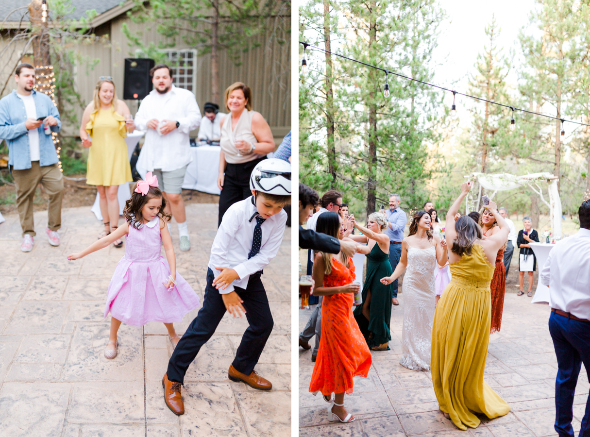 Wedding dance party in Sunriver Oregon