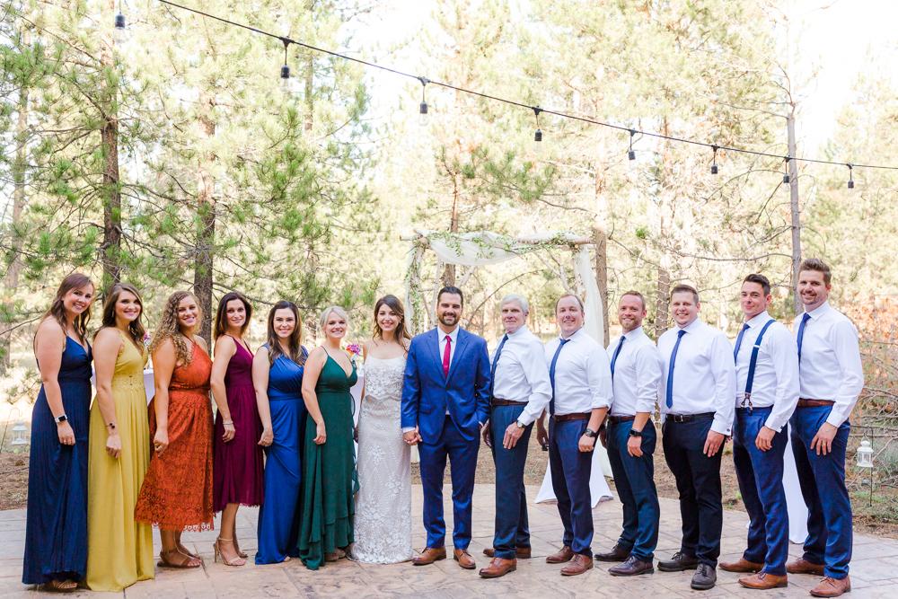 Wedding party in Sunriver Oregon