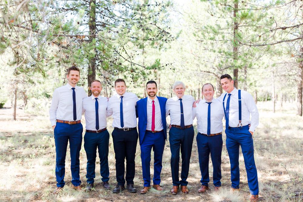 Groomsmen Sunriver Oregon Wedding