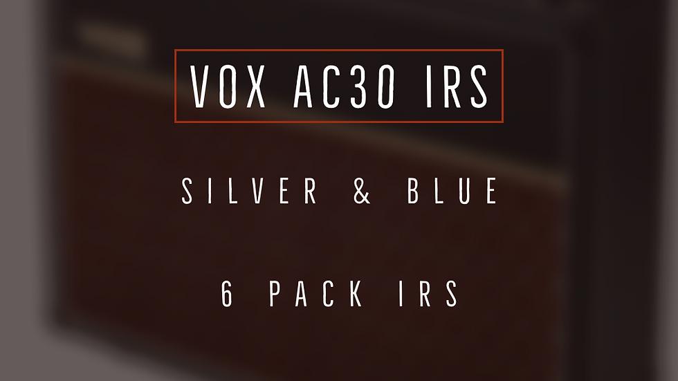 AC 30 Silver & Blue Custom 6 Pack IRs
