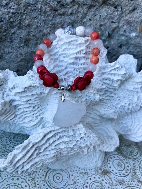 Turtle love lava bead aromatherapy bracelet