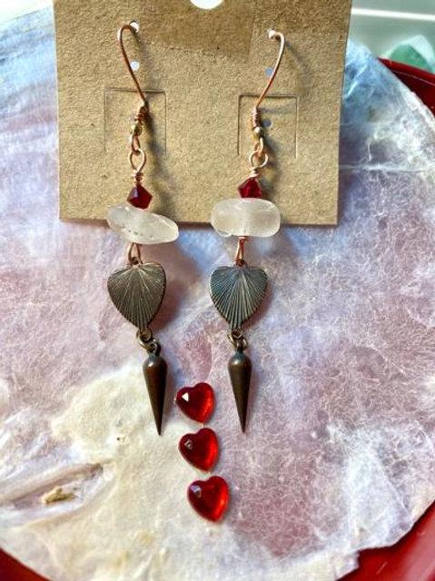 Neptune's Valentine Dangle Earrings