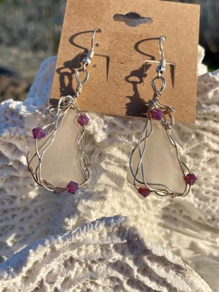 Lucky Love Lavender Earrings