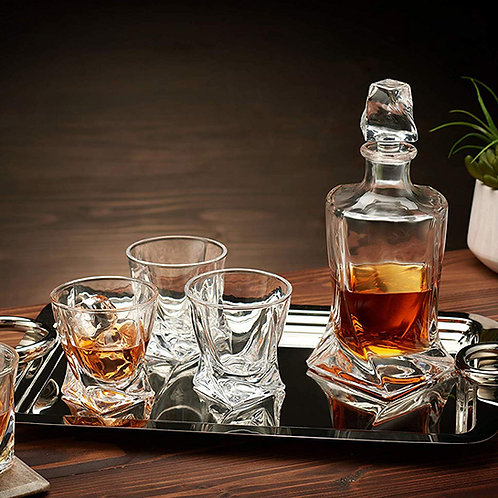 Modern Whiskey Decanter and Glass
