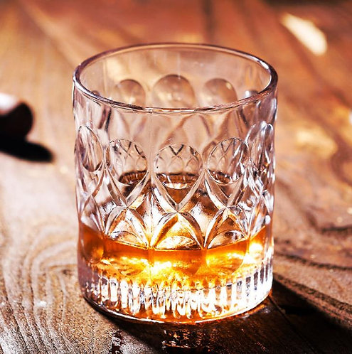 Whiskey Glass Wave Pattern (2 glasses)