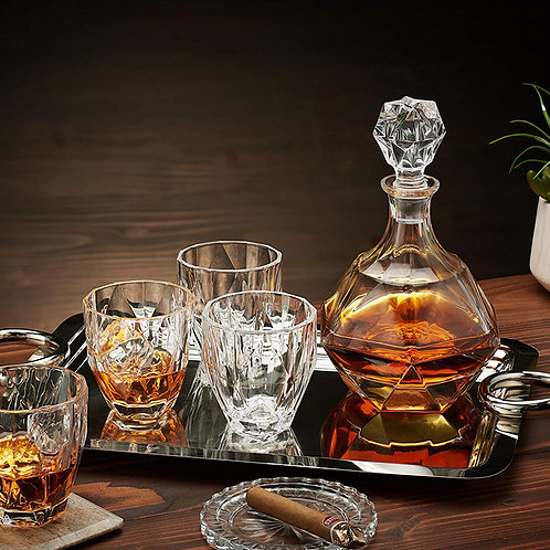 Classic Whiskey and Vodka Decanter Set