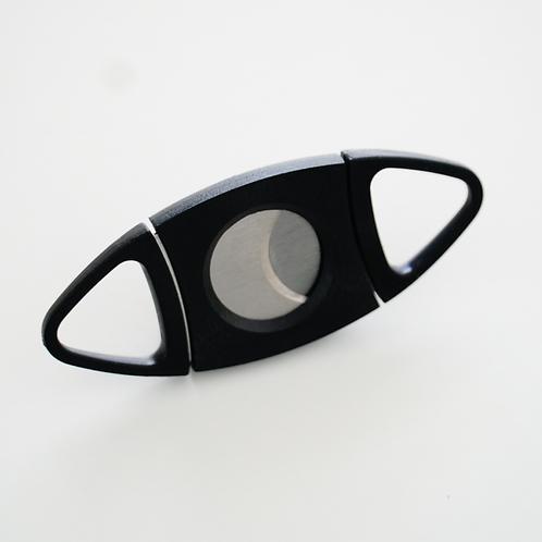 Cigar cutter - black plastic