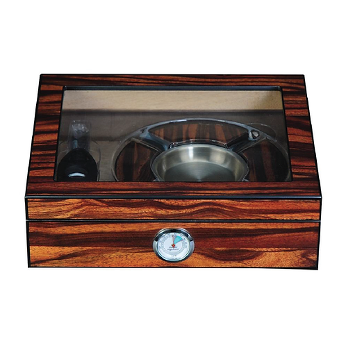 Wooden Cigar Humidor Set