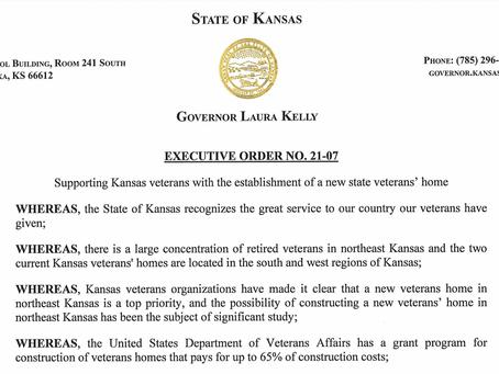 BREAKING: Gov. Kelly authorizes construction of NEW VA Home in NE Kansas