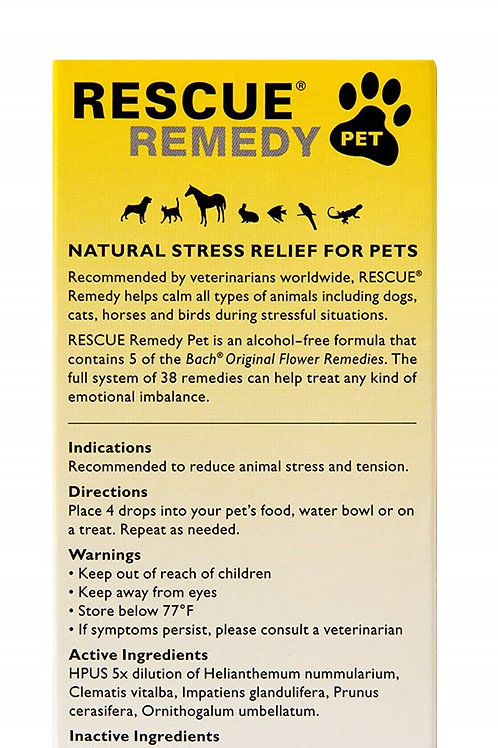 BACH FLOWER REMEDY PETS-STRESS/ANXIETY