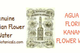 Agua De Kananga Agua De Florida~Genuine Peru Floral Waters
