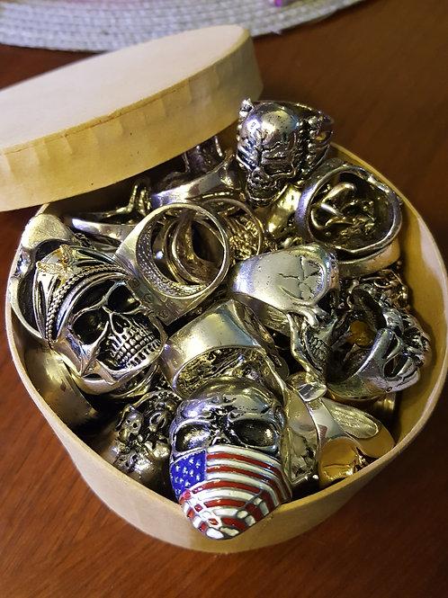3 Cool Men's Skull Rings-Randoms Sent