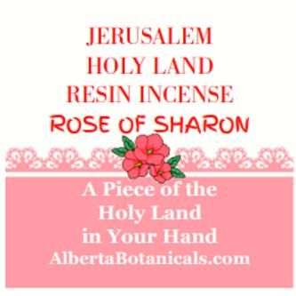 Jerusalem Holy Land Frankincense-Rose Resin Incense