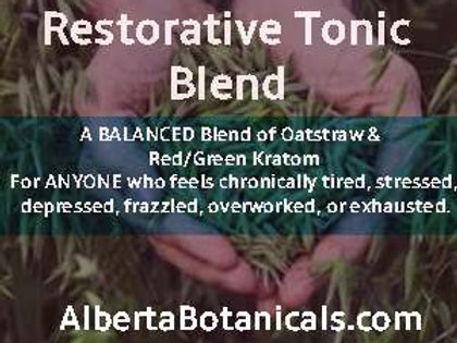 Restorative Blend-Oatstraw + Red & Green Kratom