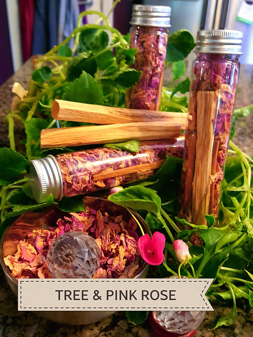 TREE'S & PINK ROSES  Loose Incense