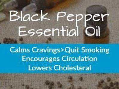 BLACK PEPPER ESSENTIAL OIL (Piper nigra) •100% Pure & Natural