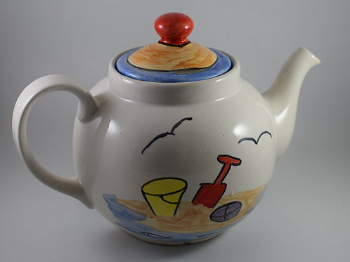 Beach Huts Tea pot 4 cup