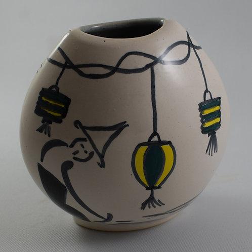 Vietnamese Festival Small purse Vase