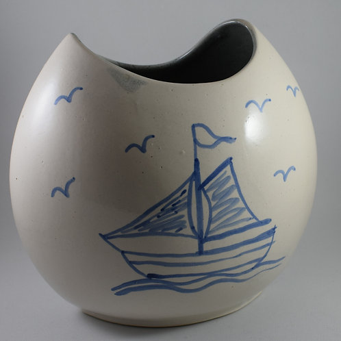 Sailing Med purse vase