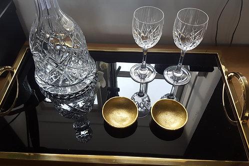 Large black & gold tray