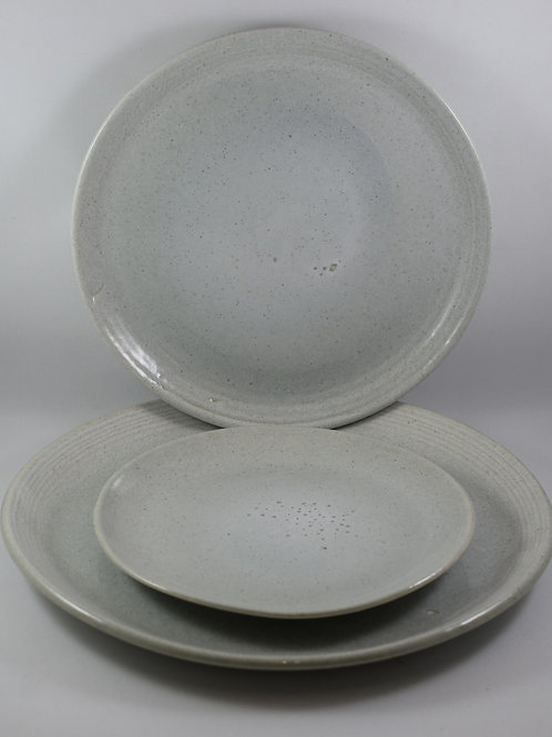 """Grey and White Table Ware  10"""""""