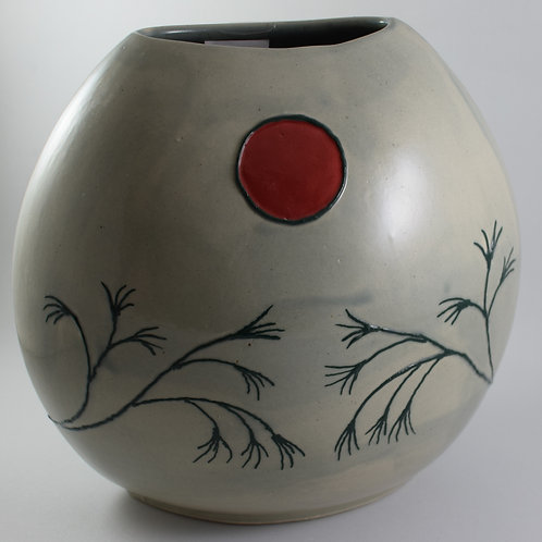 Japanese Tree of Hope Med Purse Vase