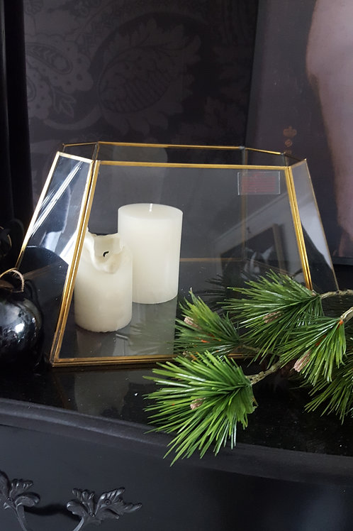 Beautiful brass & glass candle holder by Nkuku