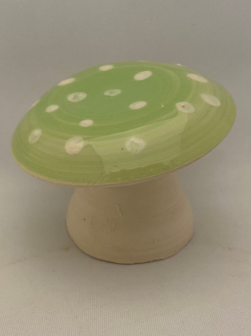 Handmade pottery mushroom