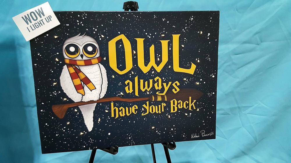 Light Up Owl Canvas!!