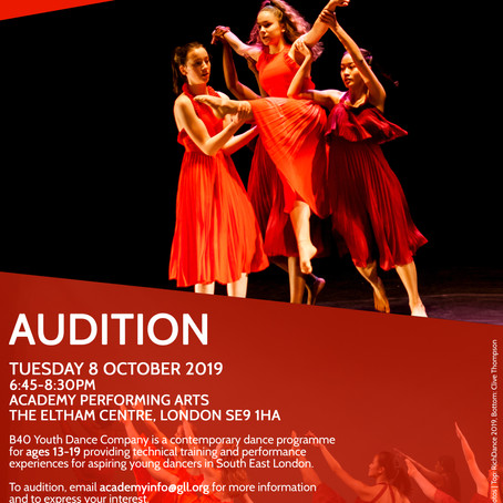 18/09/2019 | B40 Youth Dance Company Audition