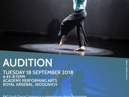 01/09/18 | B40 Youth Dance Company Audition