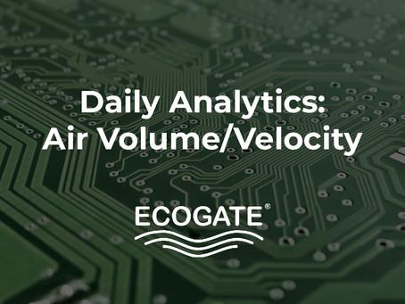 Daily Analytics Report - Air Volume/Velocity