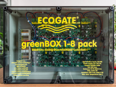 On-demand Central Industrial Vacuum Cleaning Systems with Ecogate