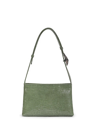 SALA Green Snake Embossed  Leather
