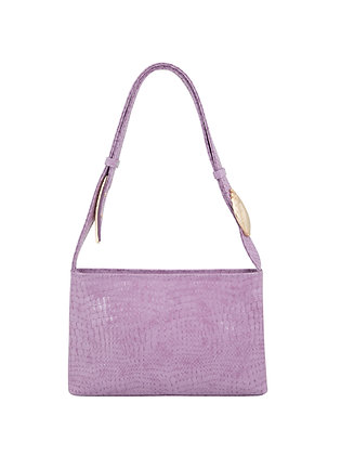 SALA Lilac Snake Embossed Leather