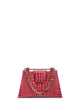 IVA Pink Croco Embossed Leather
