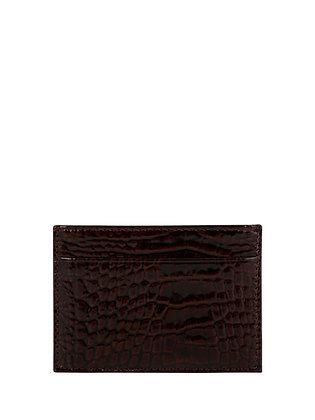 IVA Brown Card Holder