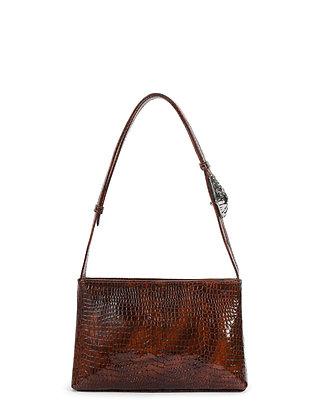 SALA Brown Snake Embossed Leather