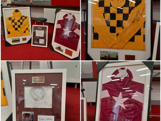Charity Auction - Tiger Roll - Al Boum Photo Silks - Hoof Print By Tiger Roll with Davy Russel Autog