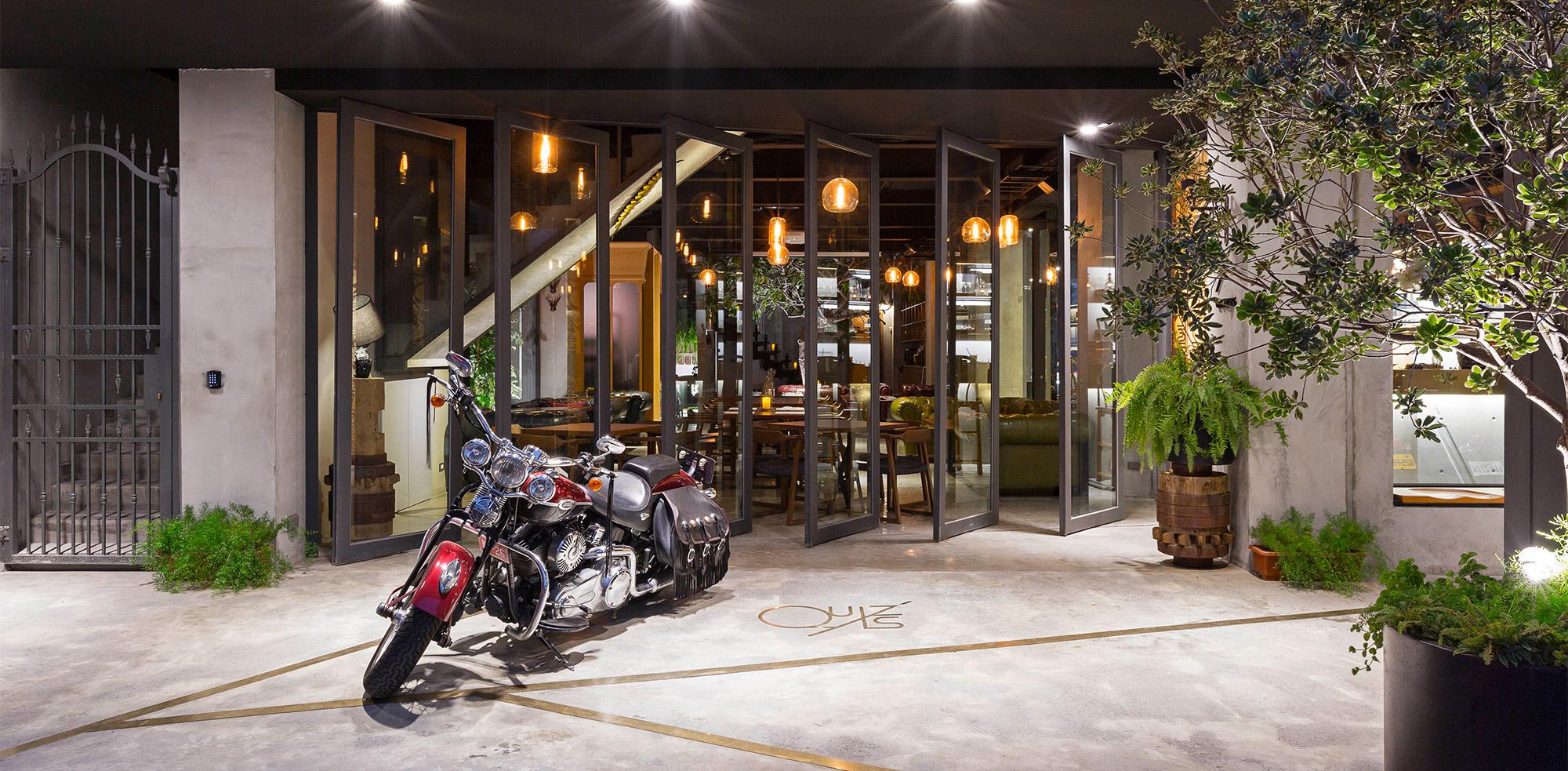 商空設計 復古時髦餐旅館