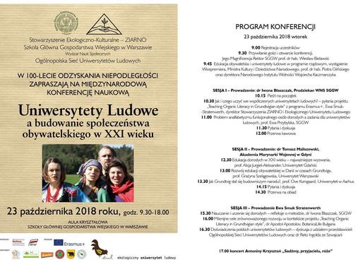 Uniwersytety Ludowe a budowanie społeczeństwa obywatelskiego w XXI wieku.