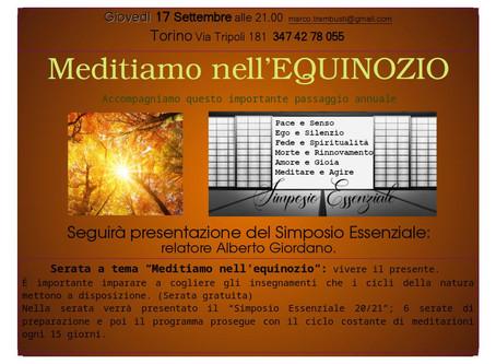 Serata Meditazione sull'Equinozio