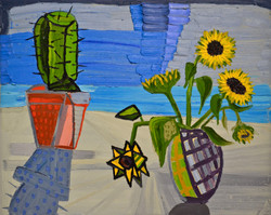 Cactus with Sunflowers