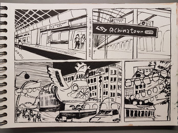Location sketches at Chinatown