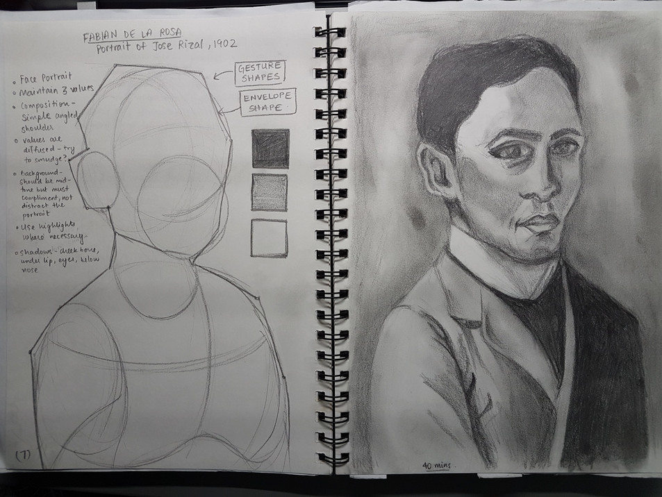 Live drawing studies at National Gallery, Singapore