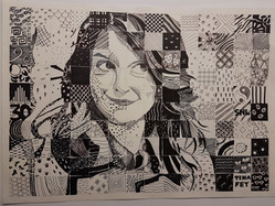 Mosaic Portrait of Tina Fey