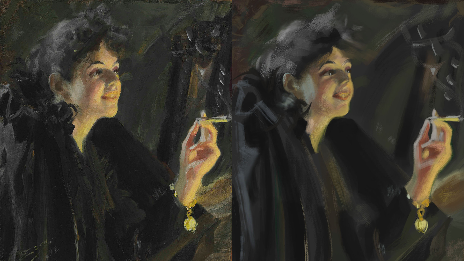 Study of a Master Portrait Painting