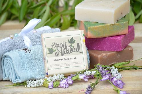 Orange Aloe Scrub All Natural Handmade Bar Soap