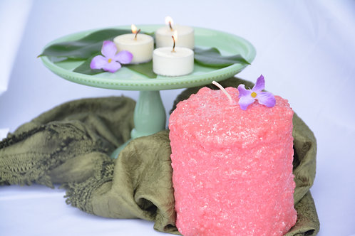 Warming Candle Pink Coral