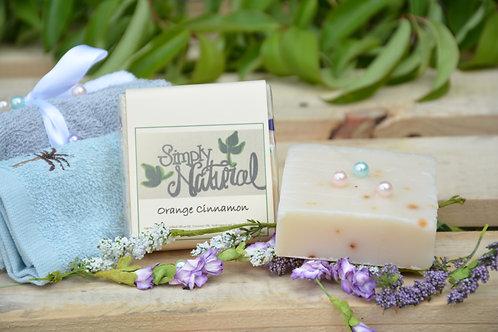 Orange Cinnamon All Natural Handmade Bar Soap